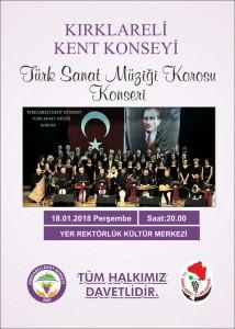 TSM Koroso Konseri Afişi